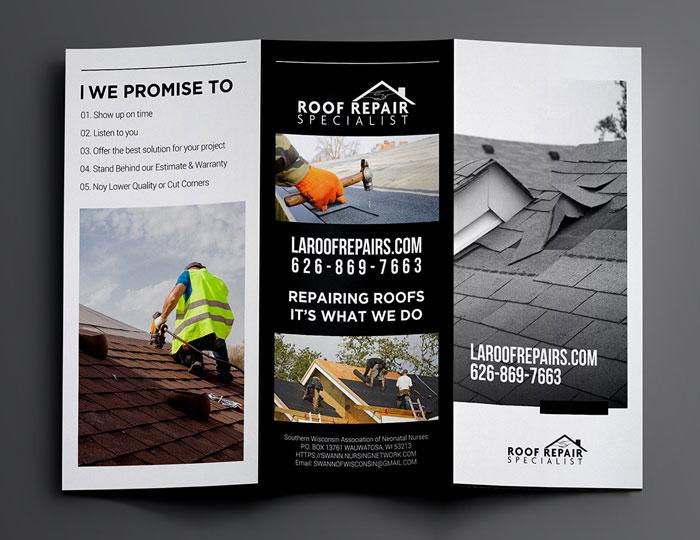 Roof Repair Trifold Brochure