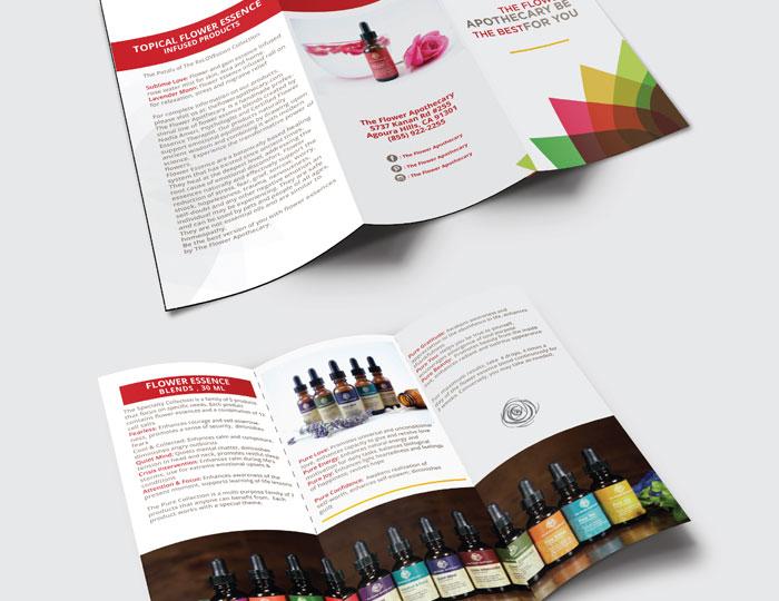 Beard Oil Trifold Brochure