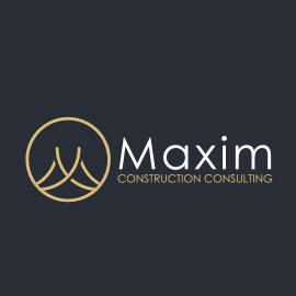 Real Estate Logo Ideas - Maxim Construction Consul