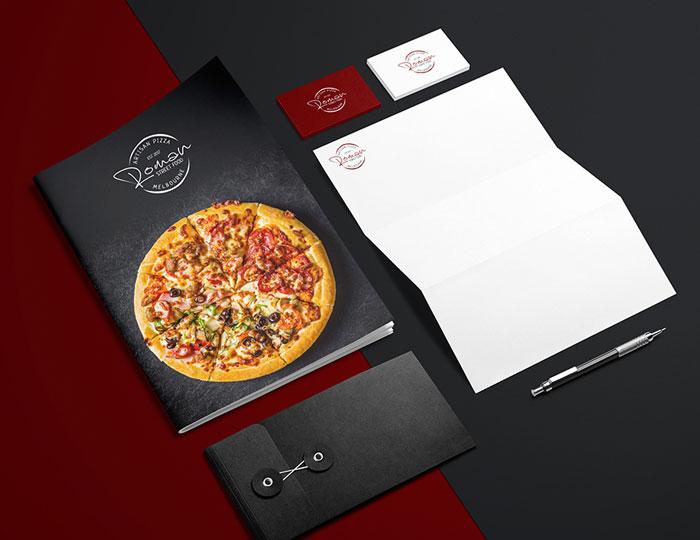 Fast Food Stationery Design