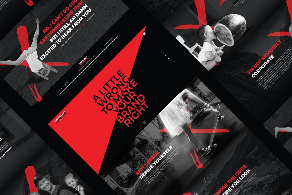 Abstract Website Design