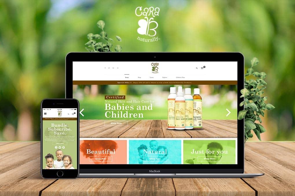 Baby Oil Website Design