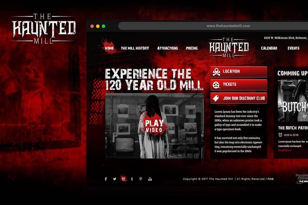 Haunted Website Design
