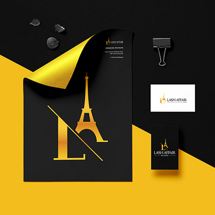 Lash Affair - Stationery Design