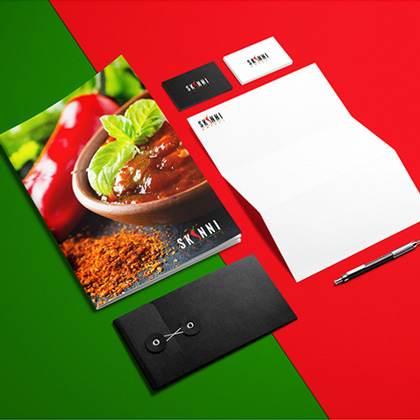 Skinni - Menu Card Design