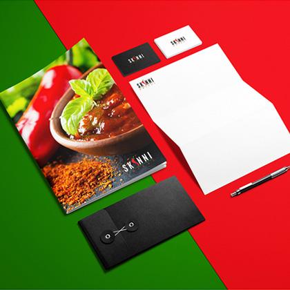 Skinni - Menu Card Design